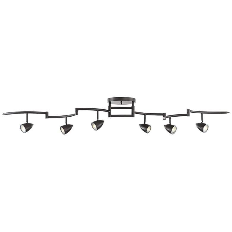 Pro Track Heavy Duty Axel 6-Light LED Track Fixture