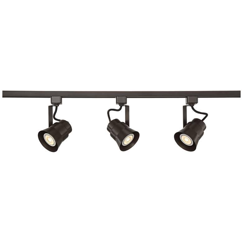 Pro Track Jenna Linear 3-Light Bronze LED Track Kit
