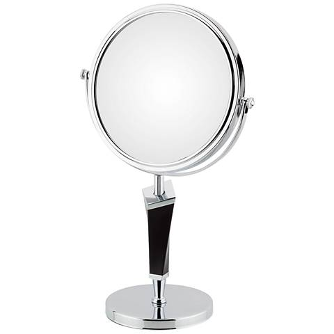 Helix Chrome Two-Sided Magnified Freestanding Makeup Mirror