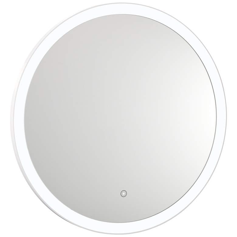 "Grace Back-Lit Glass 31 1/2"" Round 5500K LED Wall Mirror"