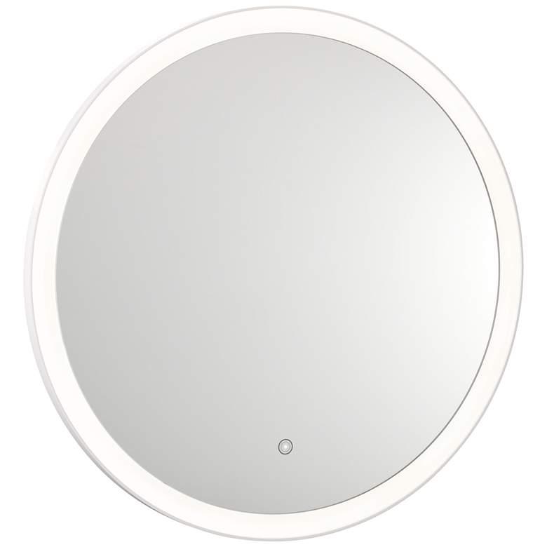 "Grace Back-Lit Glass 31 1/2"" Round 3500K LED Wall Mirror"