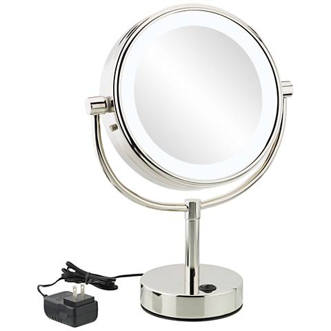Neomodern Chrome Cool White LED Magnified Makeup Mirror