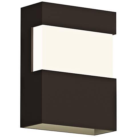 """Sonneman Band 8"""" High Textured Bronze LED Outdoor Wall Light"""