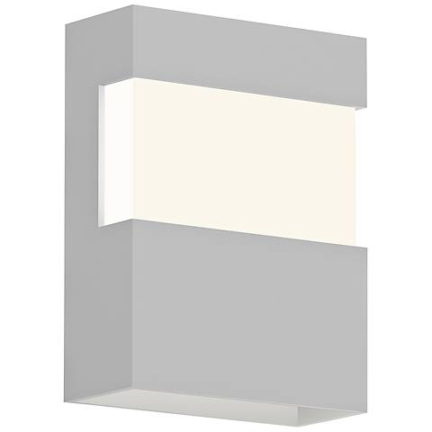 "Sonneman Band 8"" High Textured White LED Outdoor Wall Light"