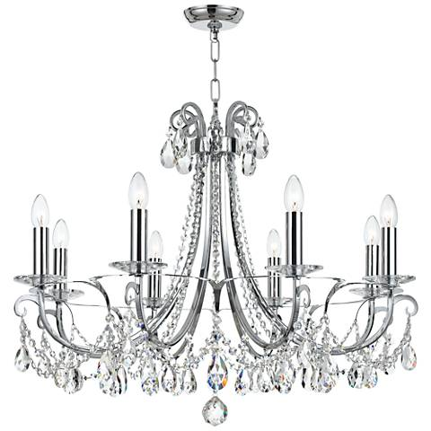 "Othello 31"" Wide Polished Chrome 8-Light Crystal Chandelier"