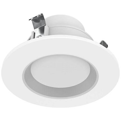 "50 Watt Equivalent 3"" White 8W LED Remodel Recessed Trim"