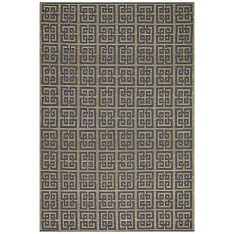 Williamsburg Chateau 6512RS330 Gray Blue Area Rug