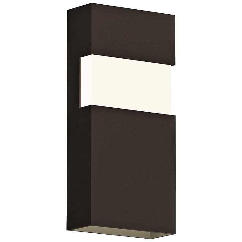 """Sonneman Band 13""""H Textured Bronze LED Outdoor Wall Light"""