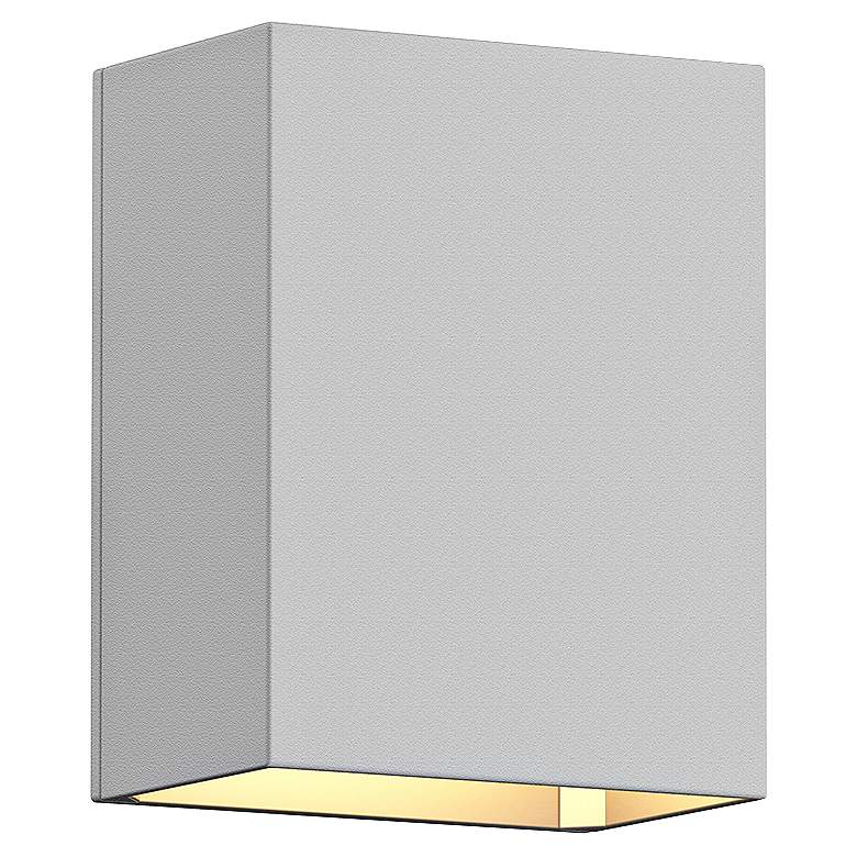 "Sonneman Box 4 1/2""H Textured White LED Outdoor Wall Light"