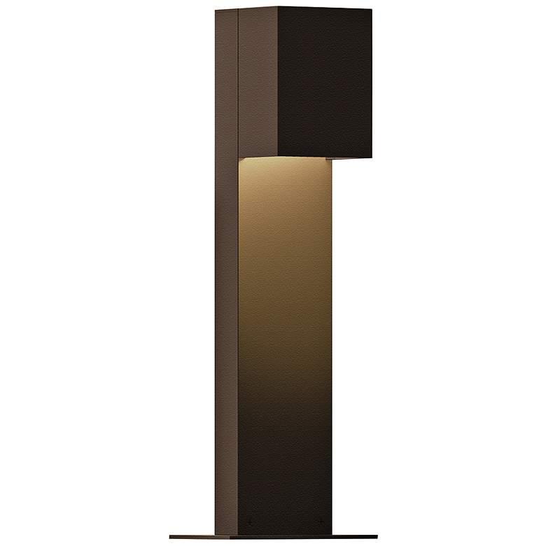 """Sonneman Box 16""""H Textured Bronze LED Landscape Path Light"""
