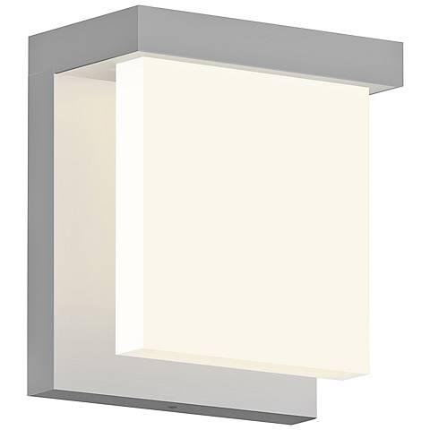 "Glass Glow 5 3/4"" High Satin Aluminum LED Outdoor Wall Light"