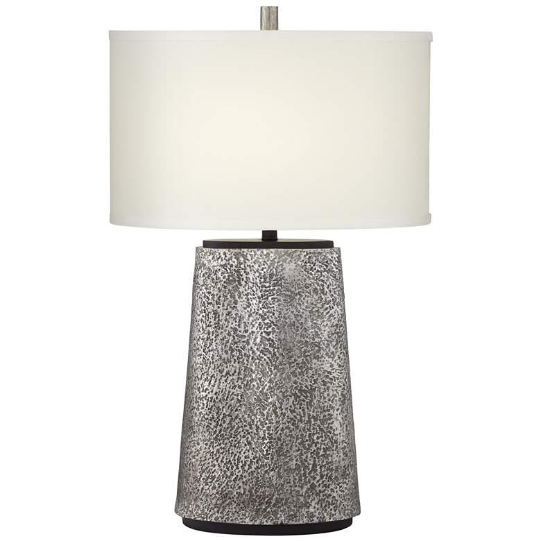 Kathy Ireland Palo Alto Aged Pewter Table Lamp