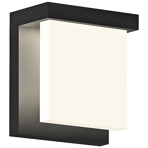 "Glass Glow 5 3/4"" High Satin Black LED Outdoor Wall Light"