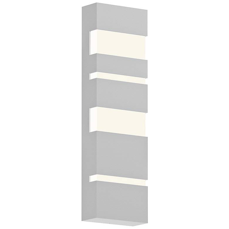 """Jazz Notes 21"""" High Textured White LED Outdoor Wall Light"""