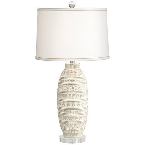 Cullen Almond Ceramic Table Lamp
