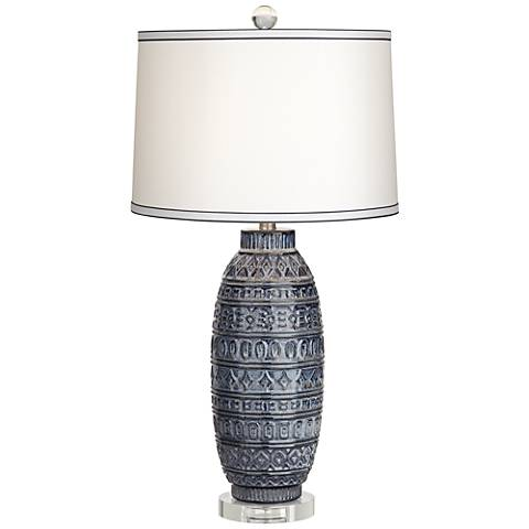 Cullen Blue Ceramic Table Lamp