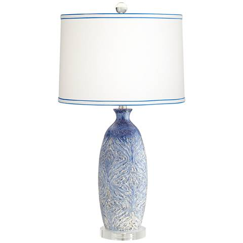 Halsted Blue Ceramic Table Lamp