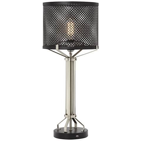 Cinder Black Metal Table Lamp
