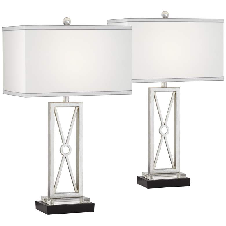 Reflections Metal Table Lamp Set of 2