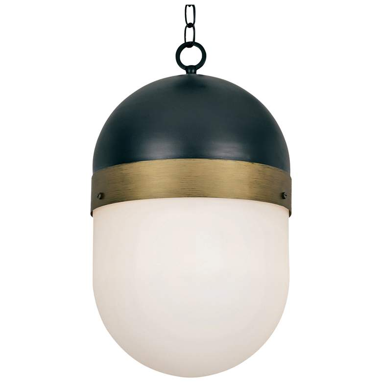 "Capsule 12 1/4"" Wide Matte Black 3-Light Outdoor Pendant"