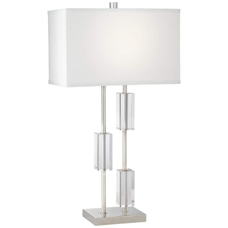 Aurora Crystal and Polished Nickel Table Lamp