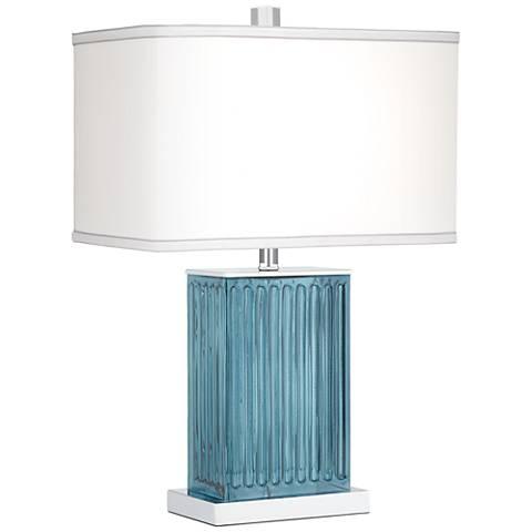 Blue Glass Kathy Ireland San Carlos Table Lamp