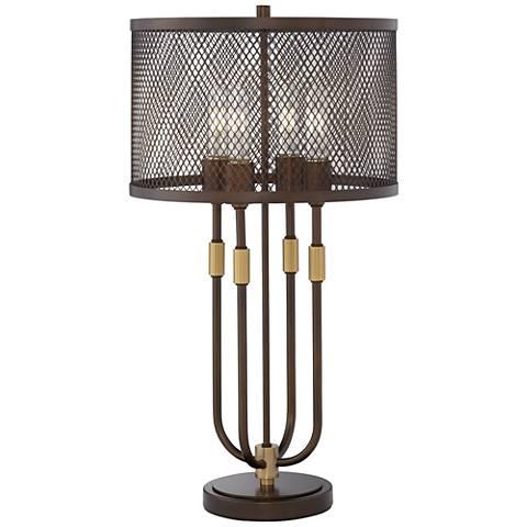 Harvey Bronze 4-Light Table Lamp