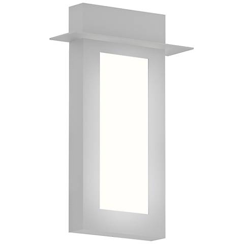 "Sonneman Prairie 18""H Textured White LED Outdoor Wall Light"