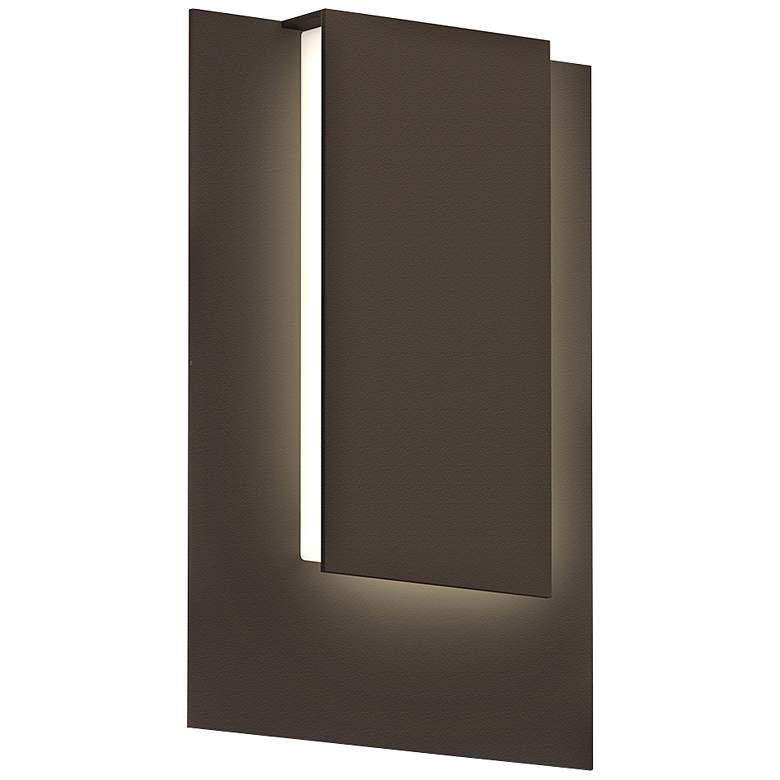 "Reveal 11 3/4"" High Textured Bronze LED Outdoor Wall Light"