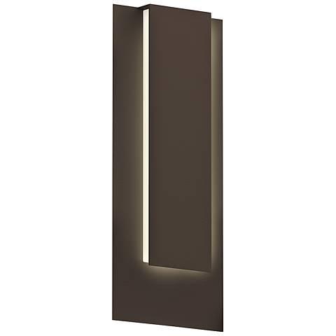 """Sonneman Reveal 19""""H Textured Bronze LED Outdoor Wall Light"""