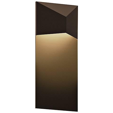 """Sonneman Triform 13""""H Textured Bronze LED Outdoor Wall Light"""
