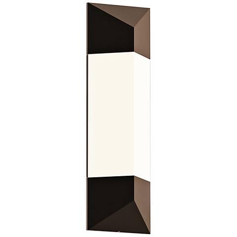 """Sonneman Triform 18""""H Textured Bronze LED Outdoor Wall Light"""