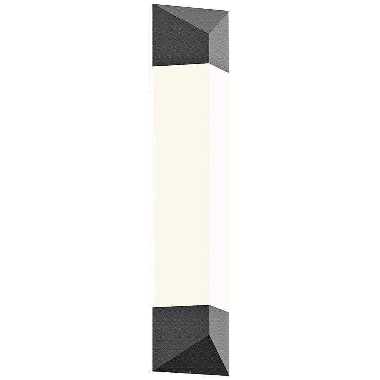 "Sonneman Triform 24""H Textured Gray LED Outdoor Wall Light"