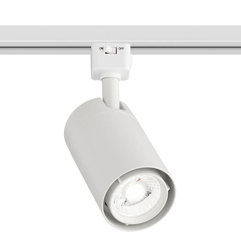 White 15 Watt LED Cylinder Track Head