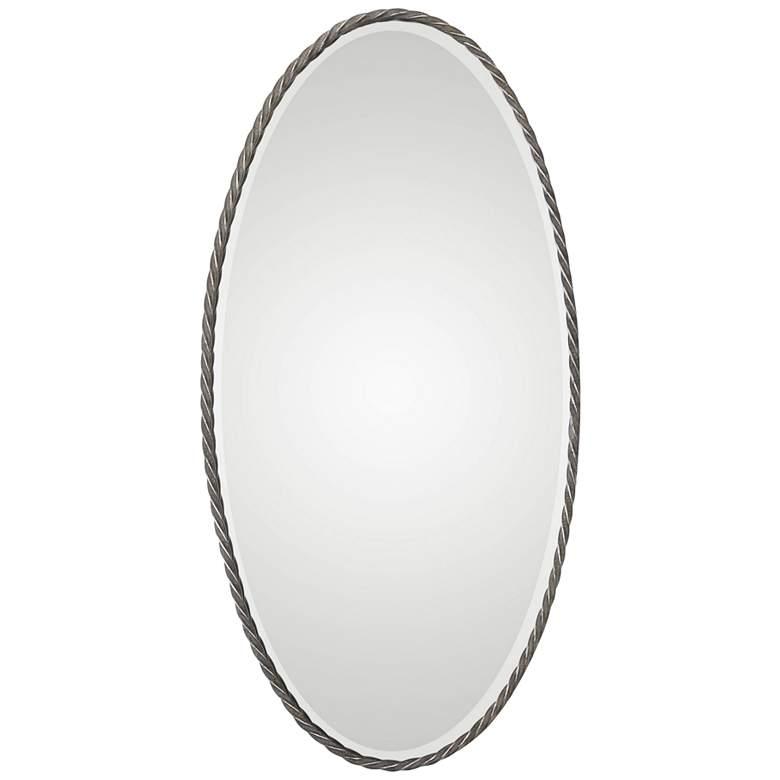 "Kateel Bronze 23 1/2"" x 47 1/4"" Oval Wall Mirror"