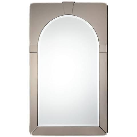 """Uttermost Paria Dark Antiqued Glass 30"""" x 50"""" Wall Mirror"""