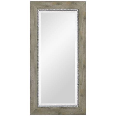 """Uttermost Sheyenne Rustic Wood 24"""" x 48"""" Wall Mirror"""