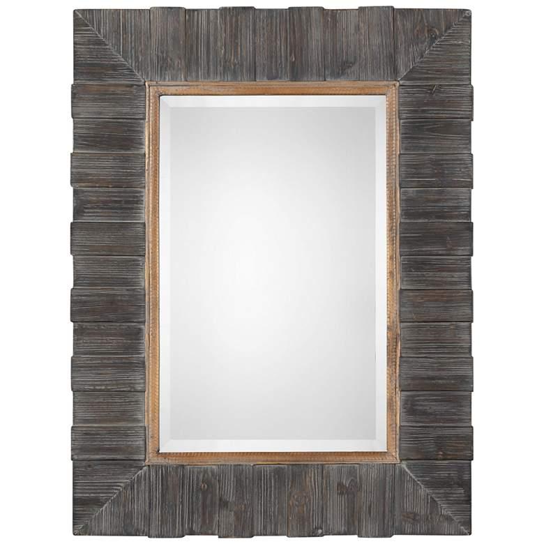 "Uttermost Mancos Rustic Wood 30"" x 40 1/4"" Wall Mirror"