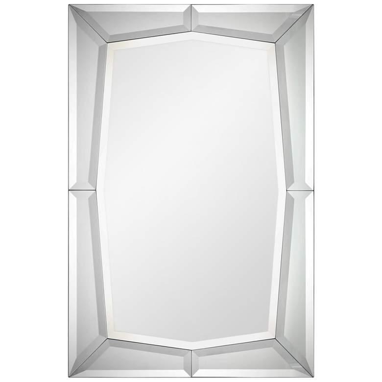 """Sulatina Mirrored Geometric Edge 32"""" x 48"""" Wall Mirror"""