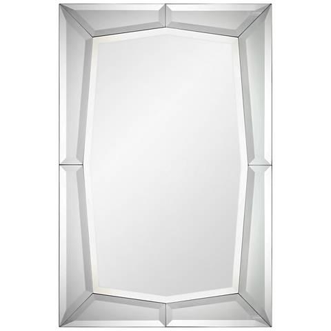 Sulatina Mirrored Geometric Edge 32 X 48 Wall Mirror 40r46