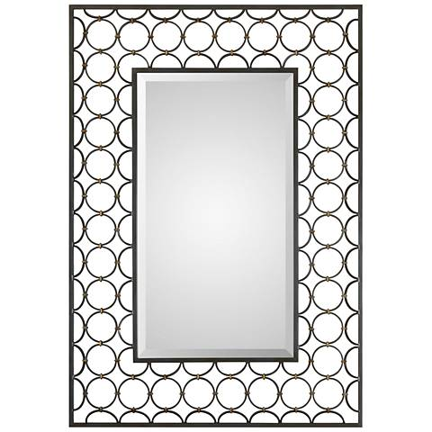 "Uttermost Leveen Aged Charcoal 32 1/2"" x 46 1/2"" Wall Mirror"