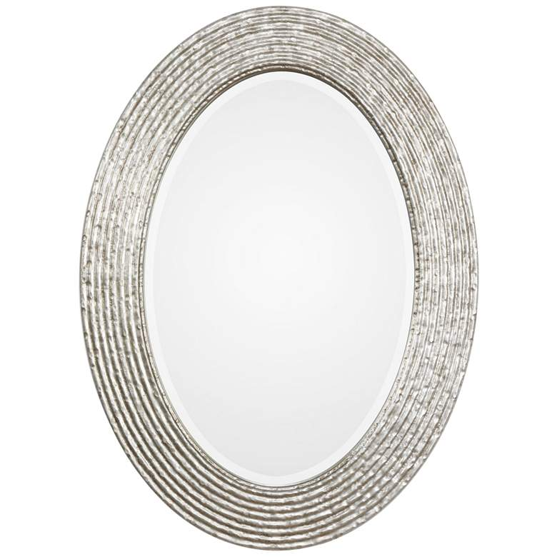 """Uttermost Conder Silver 25"""" x 34"""" Oval Wall Mirror"""