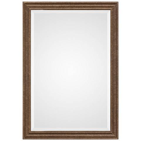 "Rydal Distressed Bronze 23 1/2"" x 33 1/2"" Wall Mirror"