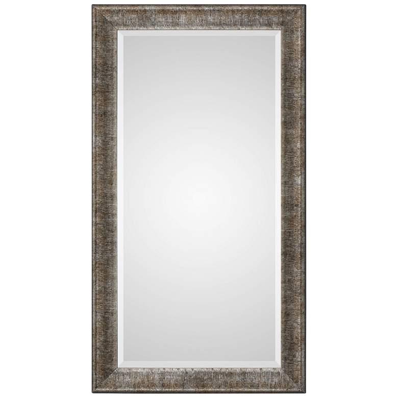 """Newlyn Metallic Silver 25 1/2"""" x 45 1/2"""" Wall Mirror"""