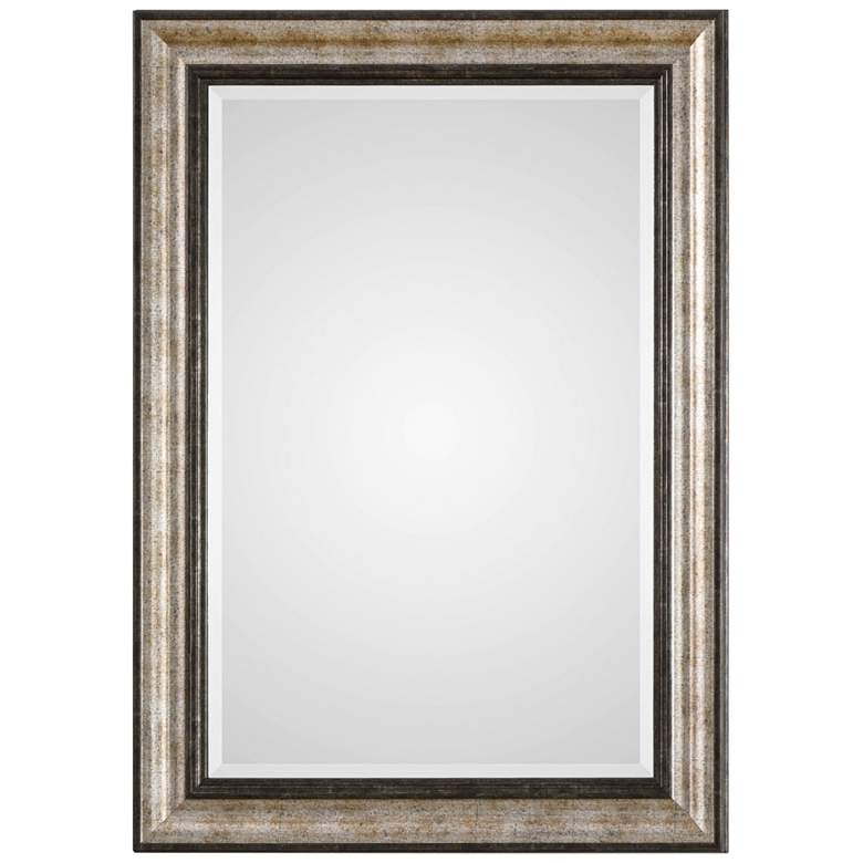 "Shefford Silver and Bronze 31"" x 43"" Rectangular Wall Mirror"