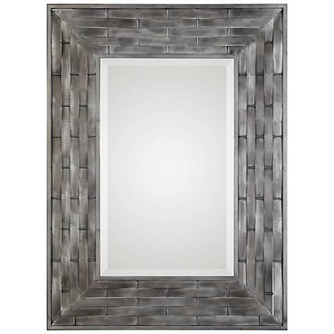 "Uttermost Pantano Natural Basket Weave 33"" x 45"" Wall Mirror"