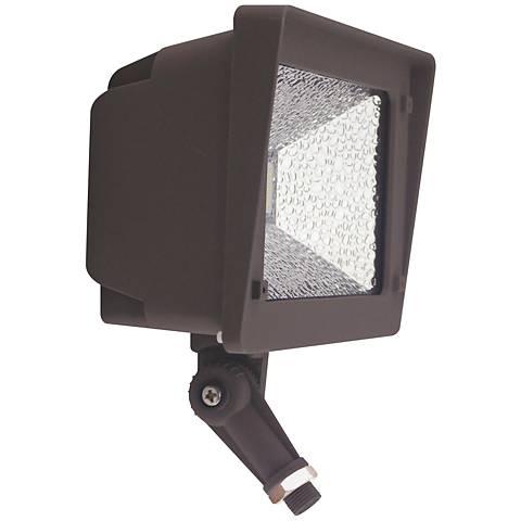 Orion Medium Dark Bronze Hardwire LED Outdoor Flood Light