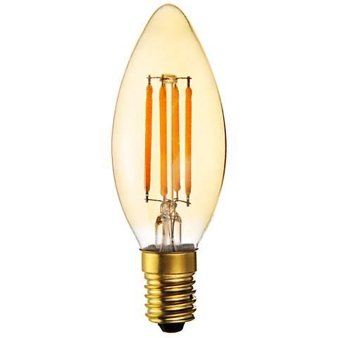 40W Equivalent Amber 4W LED Filament Intermediate  Base Bulb