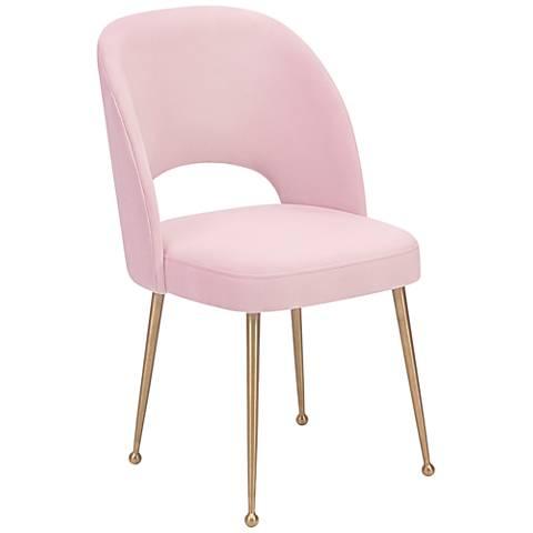 Swell Blush Velvet Dining Chair