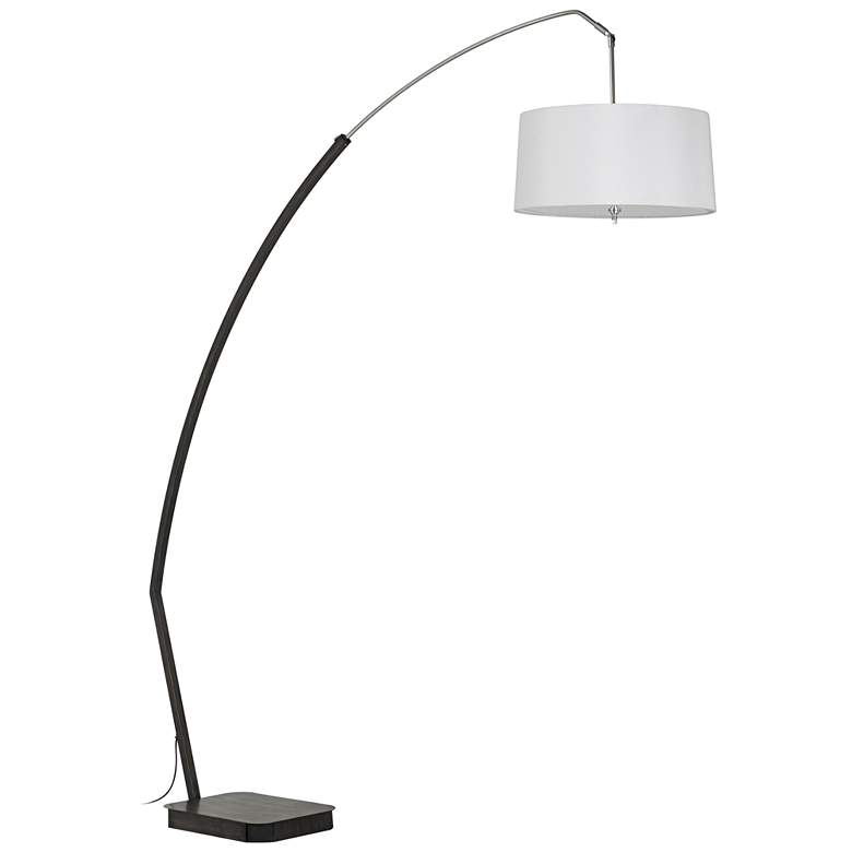 Bahamas Matte Black Arc Floor Lamp